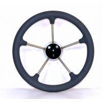 Рулевое колесо 35см нержавейка 87303G