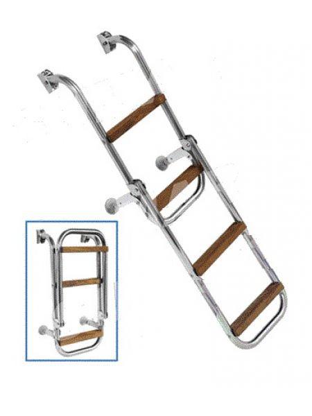 Фото Лестница 250х1050мм,4 ступени, 1042 с деревянными ступенями