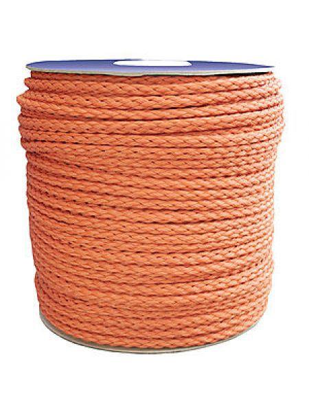 Фото Верёвка нетонущая, 12мм, 100м, оранжевая