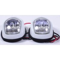 Пара LED навигационных огней, белый , C91006PW-1