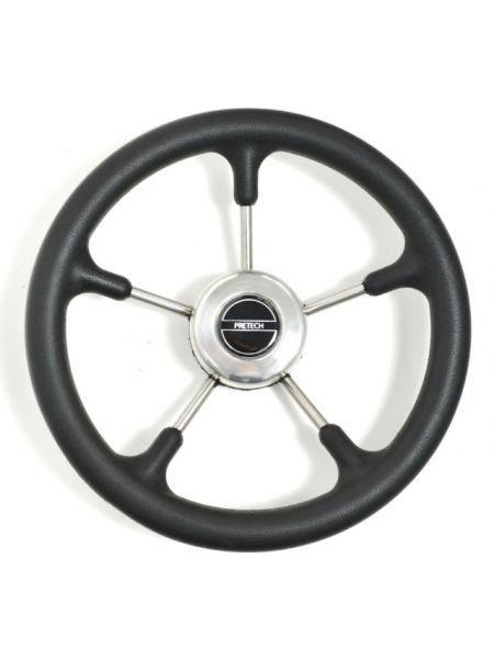 Фото Рулевое колесо Pretech нержавейка 32 см черное