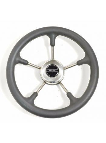 Фото Рулевое колесо Pretech нержавейка 32 см серое