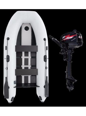 Фото Комплект лодка Jetmar 3м белая + мотор T4