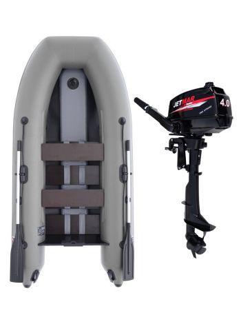Фото Комплект лодка Jetmar 3м серая + мотор T4