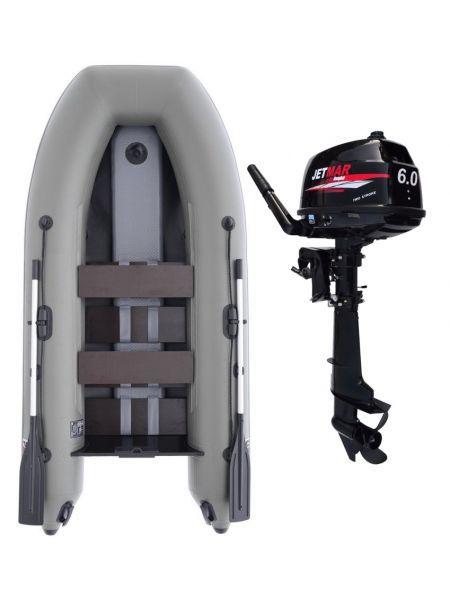 Фото Комплект лодка Jetmar 3м серая + мотор T6