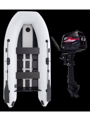 Фото Комплект лодка Jetmar 3м белая + мотор T6