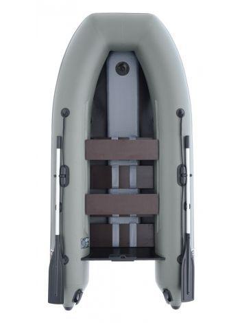 Фото Надувная лодка Parsun 3м зеленая или светло-серая, широкий привальник