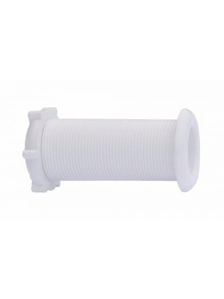 Штуцер водоотливной под распираемые пробки 22.7x78 mm белый