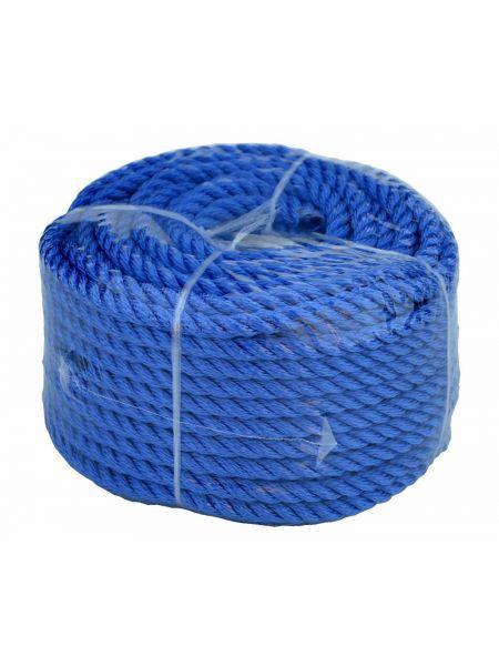 Веревка 30м 10мм синяя, полиэстер, универсальная