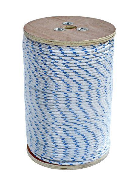 Фото Веревка полиестер 07820622 бело-синяя 6мм 220м