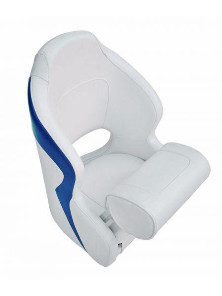 Кресло Flip up с крепежной пластиной серо-синее  12126