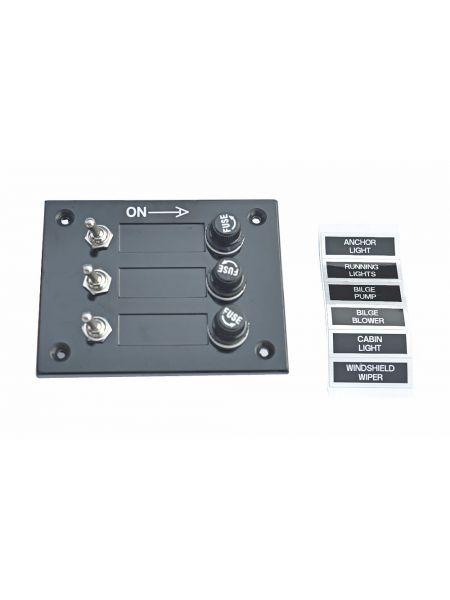 Панель переключателей на 3 переключателя  ААА 10030