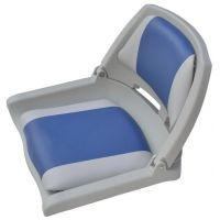 Сиденье пластиковое складное серо-синее