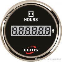 Цифровой счетчик моточасов ECMS PLH2-BS-HS не импульсный черный
