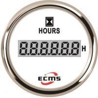 Счетчик моточасов ECMS CLH2-WS-HS 52мм белый (Серия Эконом)