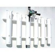Держатель для 6-ти удочек, пластиковый, белый C12718-S
