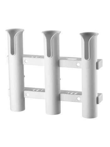 Держатель для 3-ох удочек, пластиковый, белый C12731-S