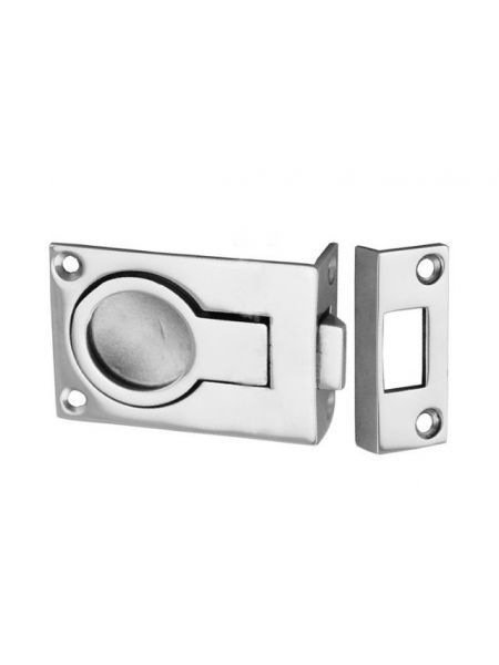 Защелка двери с кольцом торцевая 57х40мм 3450054